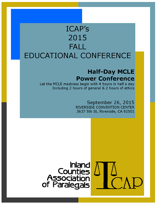 ICAP 2015 Educational Conference